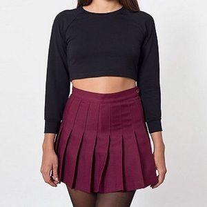 American apparel maroon tennis skirt